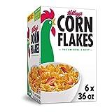 Kellogg's Corn Flakes, Breakfast Cereal, Original, 36oz (6 Count)