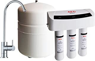 comprar comparacion AEG AEGRO Equipo de Ósmosis Inversa para la Filtración de Agua Potable para Instalación Debajo del Fregadero, Blanco, Única