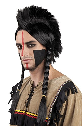 Boland 86413 Erwachsenenperücke Indianer Antinanco, Mehrfarbig, One Size