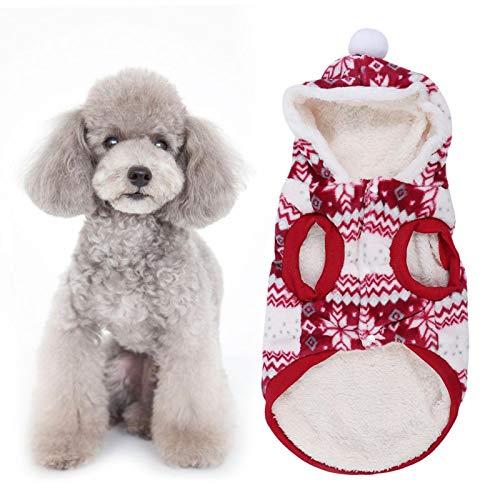 Gedourain Otoño Invierno Ropa para Perros, 5 tamaños Ropa para Perros Ropa de Abrigo para Mascotas, para Perros pequeños y Gatos para Usar en Navidad(8 Yards)