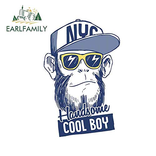 FAFPAY Car sticker 13cm x 8.5cm for Handsome Cool Gorilla Funny Car Stickers DIY Sticker Funny Scratch-proof Waterproof Vehicle Decals