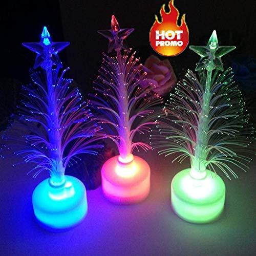 99native Changement de couleur LED Arbre de Noël optique Lumière de décoration de Noël Party Décor,Convient pour Halloween/Noël/fête, créant une atmosphère (Couleur)