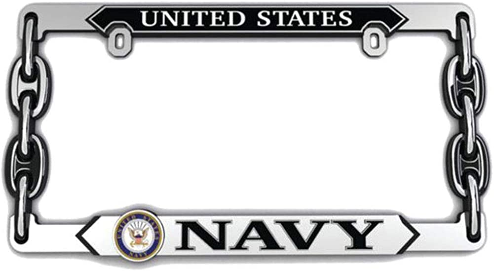 U.S. Navy 3d License Cheap mail order sales Houston Mall Plate Frame