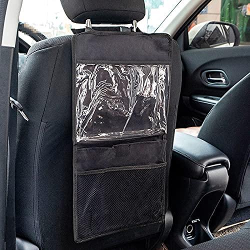 Bolsa De Almacenamiento para El Asiento Trasero del Automóvil, con 3 Bolsas Gran Capacidad, Bolsa Colgante Transparente iPad Táctil Y 2 Organizadores Automóvil