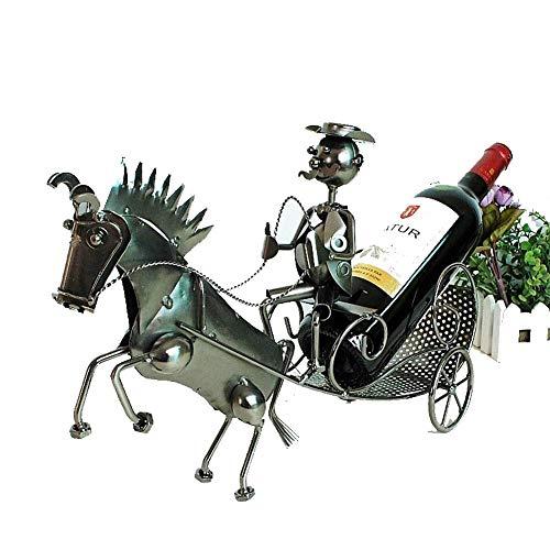 TIN-YAEN Weinregale Kreativ Weinregal Weinregal Marathon Stil Weinregal Hauptdekoration Ornamente Weinflaschenhalter Wein Container Wohnkultur Eisen-Fertigkeit-Geschenk-Handwerks-Verzierung Wohnkultur