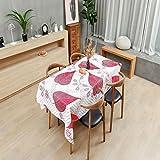 LIUJIU Mantel de algodón y lino, sin arrugas, mantel de borlas, mantel lavable, utilizado para banquetes de cocina, 60 x 60 cm