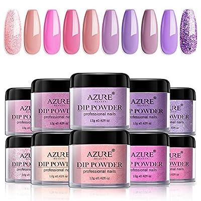 AZUREBEAUTY Dip Nail Powder 10 Colors Set