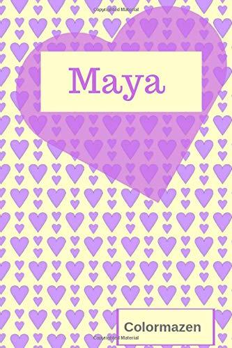 Maya: Personalised Valentine Heart Notebook In Purple (Small) (Valentine Heart Personalised Notebooks)
