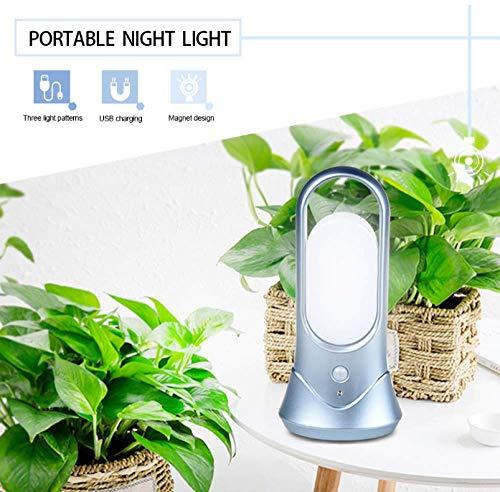 STHfficial draagbare LED PIR bewegingsmelder bewegingsmelder tafellamp nachtlampje USB oplaadbare lamp voor camping outdoor
