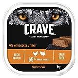 Crave Chicken & Turkey Dog Food Paté – High Protein & Grain-Free – 300 g (Pack of 10 Trays)