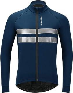 Sikma homme cyclisme veste vent hiver thermique à manches longues vélo Veste