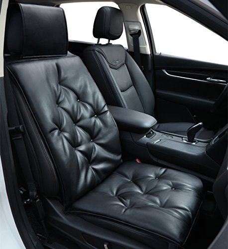 Big Ant Car Seat Cushion,PU Leather Auto Seat Cover Pad Pain Relief Cushion for Car Driver Seat Office Chair Home Use,Universal All Seasons 1pc