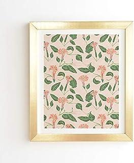 """Deny Designs Holli Zollinger Gold Framed Wall Art, 8"""" x 9.5"""", Desert Moonflower"""