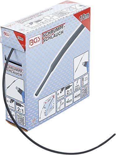 BGS 6846 | Schrumpfschlauch-Box | schwarz | Ø 2,5 mm | 10 m