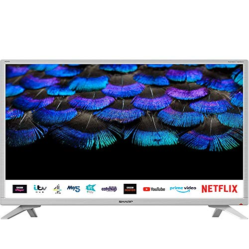 SHARP 1T C32BC2KH2FW 32 Inch Smart TV, HD Ready LCD Display with...