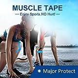 Vendaje elástico deportivo, cinta muscular deportiva para...