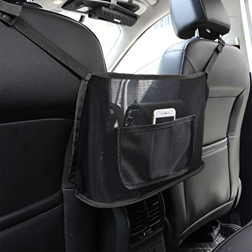 Car Net Pocket Handbag Holder,Seat Back Organizer Mesh,JASSINS Car Storage Netting Pouch,Used to store wallets and document bags