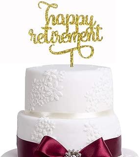 Gold Glitter Happy Retirement Cake Topper - retirement party, retirement cake topper, happy retirement, retirement decor, retirement party decor