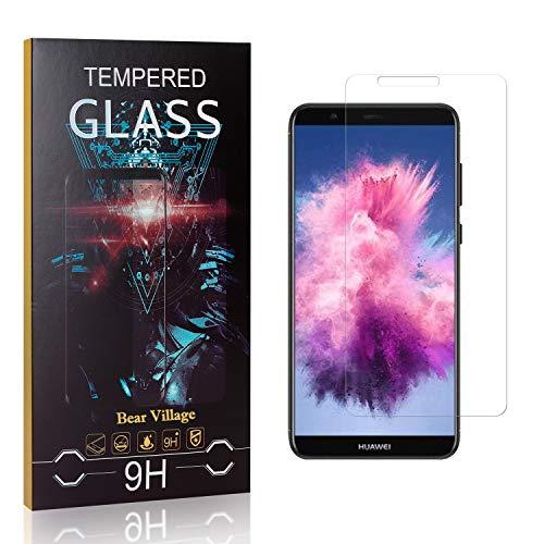 Bear Village® Verre Trempé pour Huawei P Smart, Anti Rayures Protection en Verre Trempé Écran pour Huawei P Smart, Dureté 9H, 99% Transparent, 1 Pièces