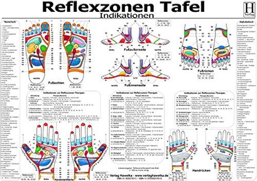 Reflexzonen Tafel - Indikationen - A3 (laminiert)