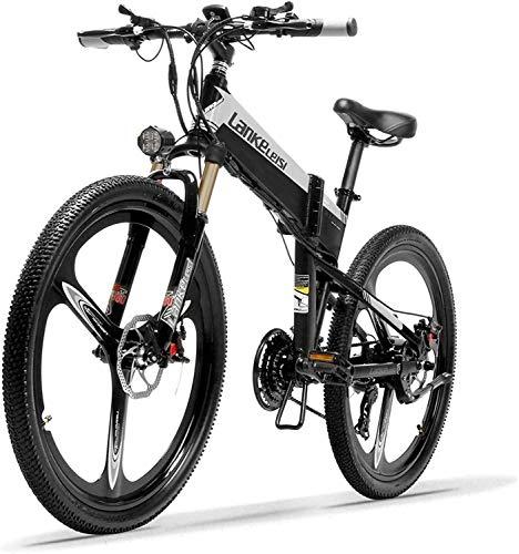 ZTBXQ Sports Outdoors Commuter City Vélo de Route 26 '' Pliant E 400W 48V 14.5Ah Batterie Amovible...