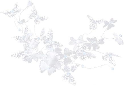 Vêtements Fille TENDYCOCO Coiffure de mariée mariée papillon robe de cérémonie décor chapellerie de fleur pièces de tête pour femme filles blanc