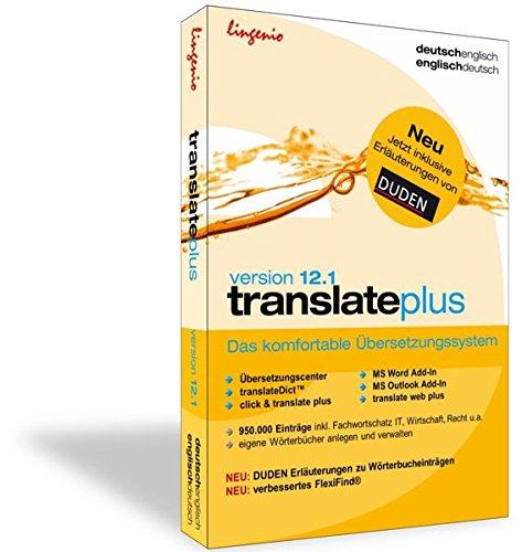 translate plus 12.1 Deutsch-Englisch: Das komfortable Übersetzungssystem