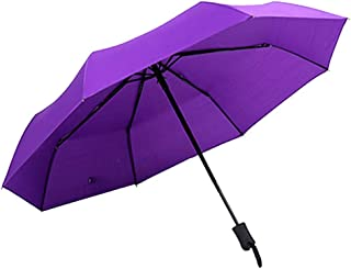 HKXR Windproof Double Layer Inverted Umbrellas Reverse Folding Umbrella UV Protection Compact Outdoor Travel Umbrellas (Color : Purple)