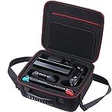Bolsa portátil compatible con Nintendo Switch / Maleta para consola de juegos / Bolsa con espacio compatible para consola Nintendo Switch, controles manuales, juegos, otros accesorios electrónicos
