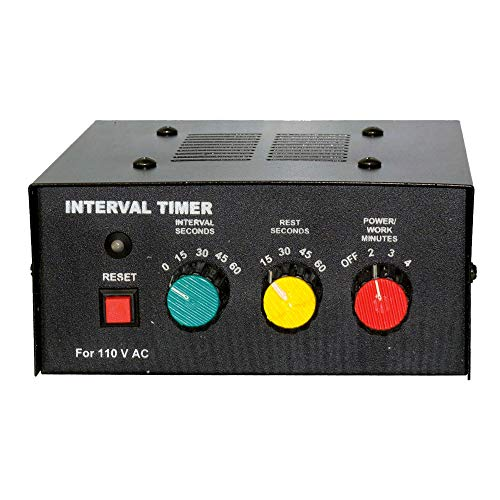 Amber Fight Gear Professional Classic Boxing Interval Timer Gym Timer for Muay Thai, MMA, Kickboxing, Boxing, Martial Arts or Any Combat Sport
