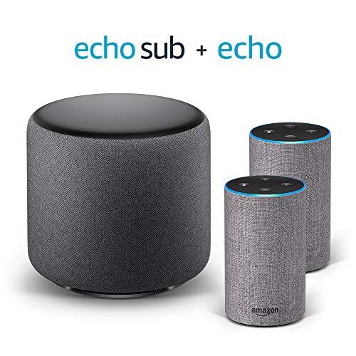 Echo Stereo System – 2 Echo (2ª generazione), Tessuto grigio mélange +...