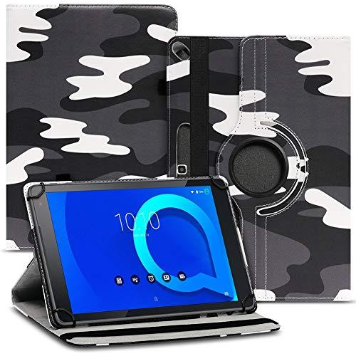 Nauci Tablet Schutz Hülle kompatibel für Alcatel 1T 10 aus hochwertigem Kunstleder mit Standfunktion 360° Drehbar Schutz & Design, Farben:Motiv 11