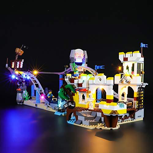 BRIKSMAX Kit di Illuminazione a LED per Lego Creator Montagne Russe dei Pirati,Compatibile con Il Modello Lego 31084 Mattoncini da Costruzioni - Non Include Il Set Lego.