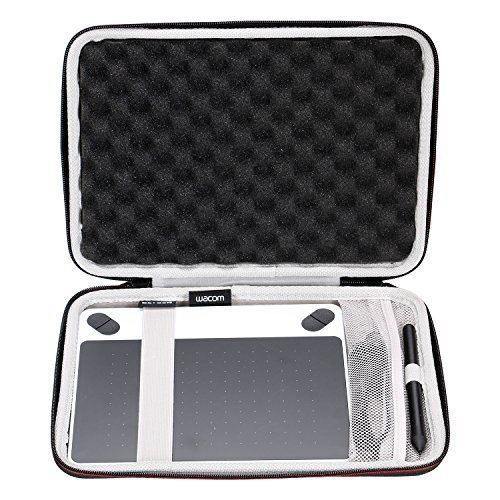 LTGEM Case for Wacom CTL4100 Intuos Draw/Art/Comic/Photo 490 Series Small Size Digital Drawing and Graphics Tablet with Mesh Pocket.