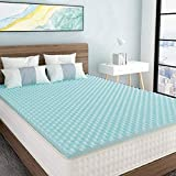 Milemont 1.5 inch Mattress Topper,Egg Crate Design Gel Swirl Memory Foam Bed Topper for Pressure Relief Queen Size