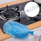Comdy Plumero eléctrico, Cepillo para Polvo, Abeto de Calidad para Muebles, Ventilador de Techo, Limpiador, Pelo de Mascotas para Mini persianas