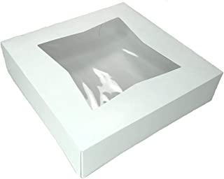 Multiple Size and Color Options - 6 Superior Quality Bakery Take Out Cake and Cookie Boxes with Display Window- (10