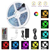 AMAZING POWER StripSun LED Strip Lights SMD 5050 Waterproof 16.4ft 5M 300leds RGB Color Changing Flexible LED Rope Lights with 44Key Remote