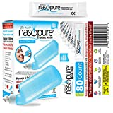 Dr. Hana's Nasopure Nasal Wash - Combo System Kit & Value Refill Kit - Includes 1 x 8 oz Nasopure Bottle & 40 Nasopure Buffered Salt Packets