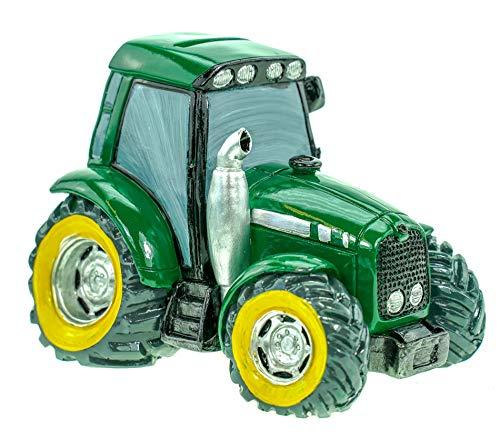 Kremers Schatzkiste Spardose Traktor grün Deko Sparschwein Figur Bauer Bauernhof
