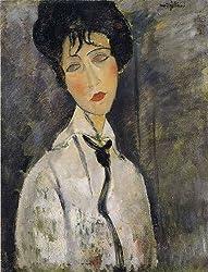 アメデオ・モディリアーニ,黒いネクタイをした女,1917年