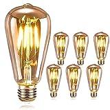 DASIAUTOEM Lampadina Vintage Edison E27, Lampadina Vintage LED Edison Lampadina Retrò 4W ...