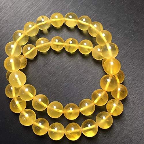 Wuligeya Bead armband natuurlijke amber bal hand ketting goud gedraaide honing hand string geen optimalisatie geen roosteren kleur mannelijke en vrouwelijke kristal geschenk