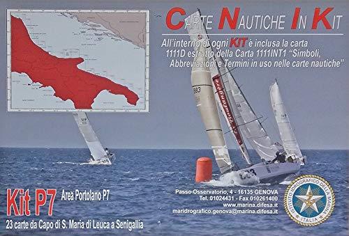 Istituto Idrografico della Marina Carte NAUTICHE Mar ADRIATICO. Kit P7. 23 Carte Santa Maria di LEUCA A SENIGALLIA.