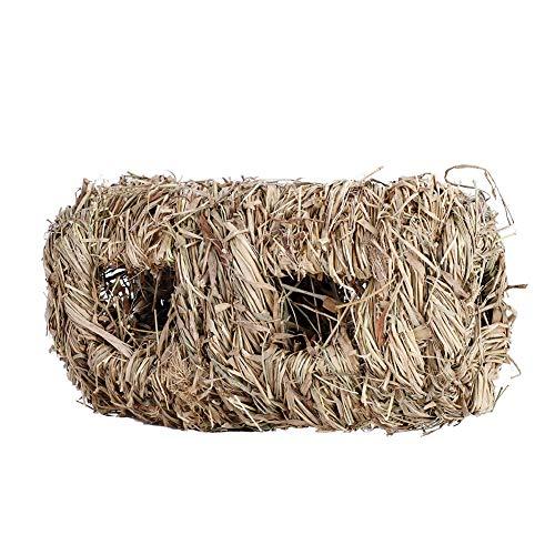 HEEPDD Kaninchen Gras Haus Handgewebte Seegras Tunnel Spielzeug Kleintiere Kauen Spielzeug für Hamster Meerschweinchen Bunny