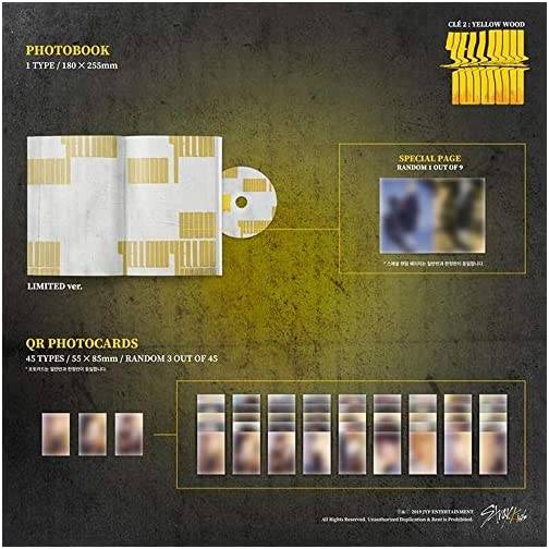 Stray Kids - Clé 2 : Yellow Wood [Limited ver.] (Special Album) CD+Photobook+3Photocards+Unit Photocards+Sticker+Pre…  