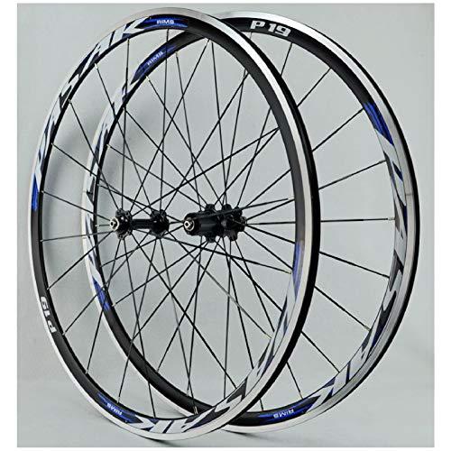 VPPV Ruedas Road Bike Racing 700C Pared Doble Aleación de Aluminio Freno En V Llanta Ruedas Ciclismo para Velocidad 7/8/9/10/11/12 (Size : 700C)