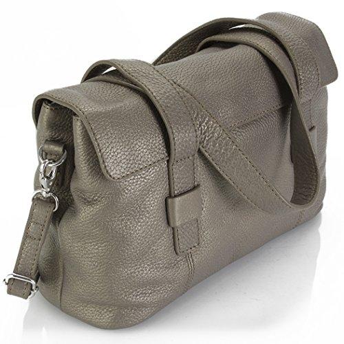 Hadaki Hannah's Shoulder Bag Soft Leather Convertible Crossbody Shoulder Messenger Bag (Bronze)
