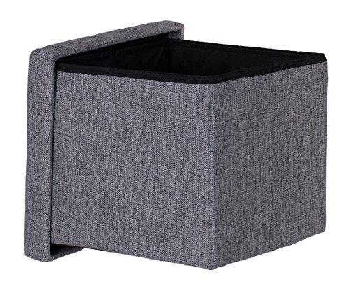 Brandsseller Taburete espacio almacenamiento, plegable