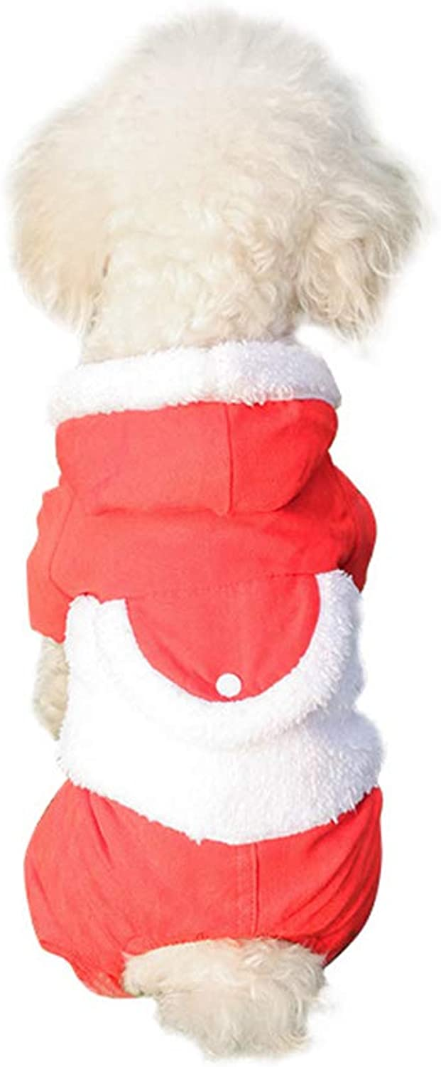 Cat Warm Hoodies, Dogs Hoodies Clothes Pet Puppy Cat Cute Cotton Warm Hoodies Dog Hoodies Jumpsuit Pet Clothes Warm,Red,M